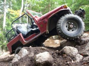 FJ40 climbing at FG